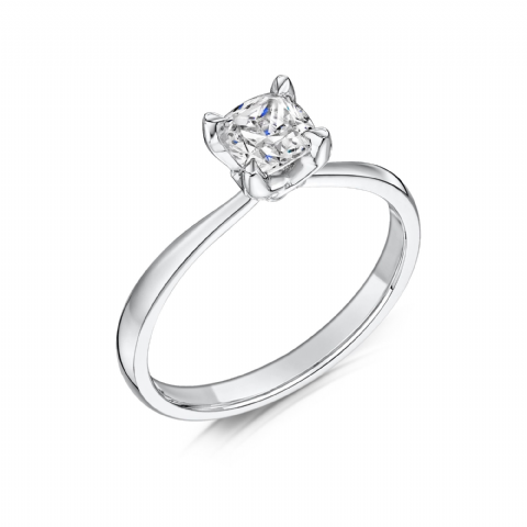 0.4 Carat GIA GVS Diamond solitaire 18ct White Gold Cushion shaped Engagement Ring MWSS-1182/040